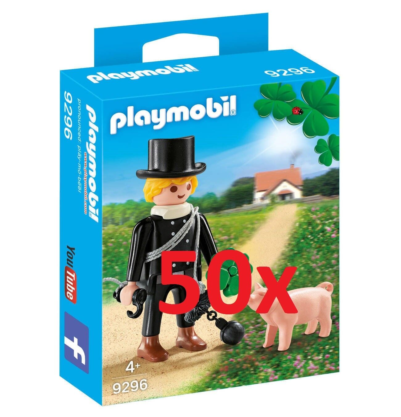 Playmobil 50x 9296 Spazzacamino con Maialino Nuovo Conf. Orig.