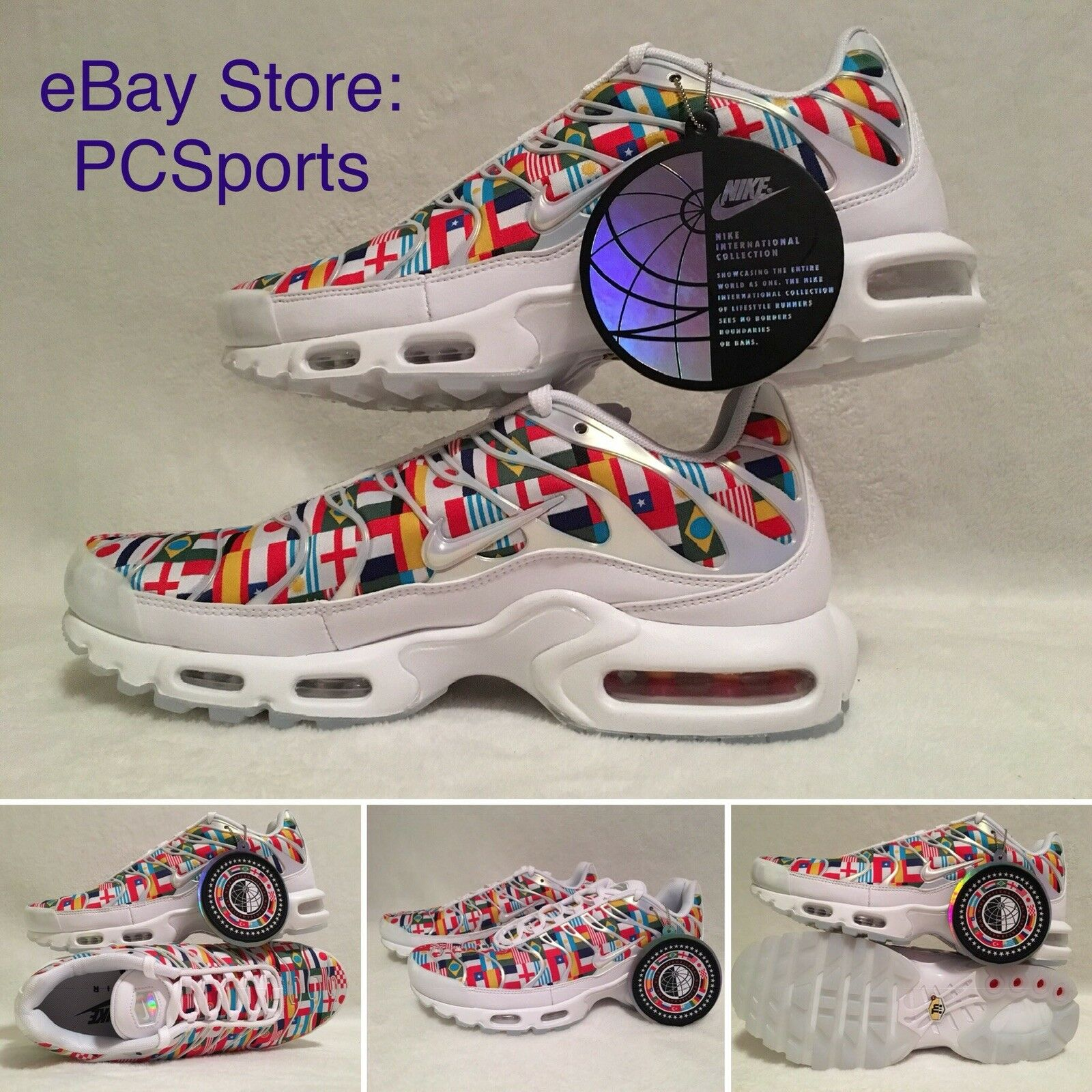 Men's Nike TN Air Max Plus International Running shoes AO5117-100 Size 9.5
