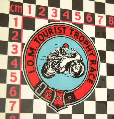 Isle Of Man Tourist Trophy Sticker Norton MV Agusta AJS