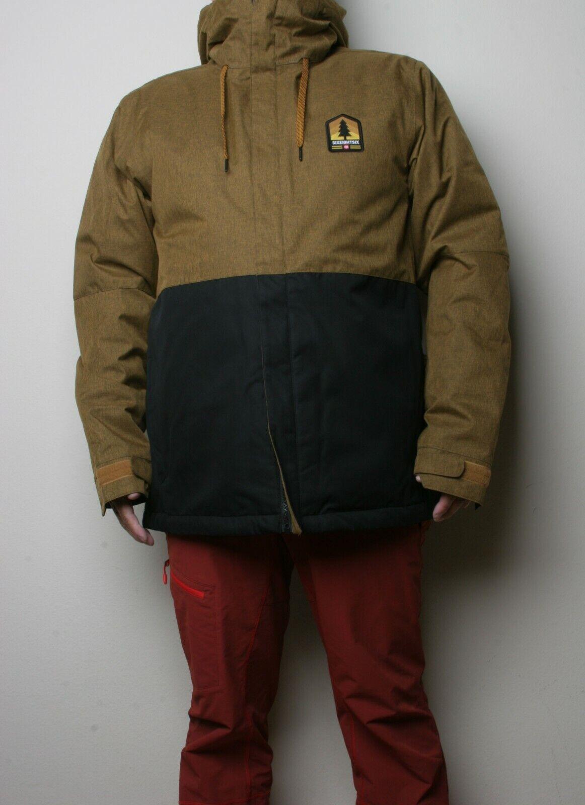 686 Foundation Insulated Snowboard Jacket (L) Golden Brown M0W117-GLDB
