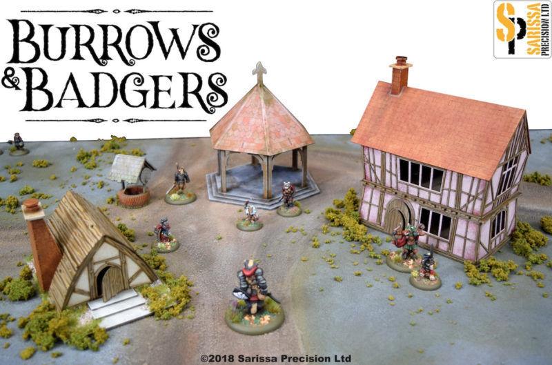 Burrows & Badgers SCENERY SET MDF BUILDINGS BB08