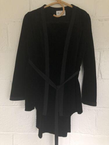 Vintage Black Velvet Heavy Cotton Lounge Suit Set