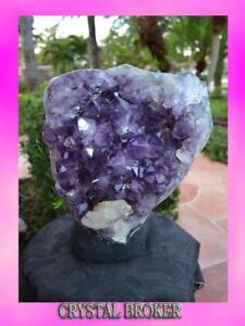 Amethyst-Geode-Cluster-Specimen-Great-Quality-Free-Standing-Beautiful-Specimen