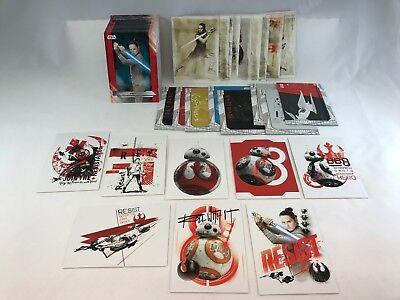 100% Waar Star Wars The Last Jedi Topps Complete Base Card Set W/ 3 Chase Sets (127) Catalogi Worden Op Verzoek Verzonden