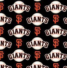 San Francisco Giants Black MLB Baseball Sports Cotton Fabric Print by the Yard