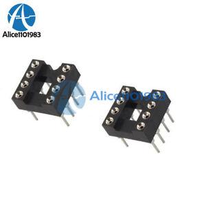 100pcs-8pin-Dip-SIP-runde-IC-Sockel-Adapter-Solder-Typ-vergoldet-bearbeitet