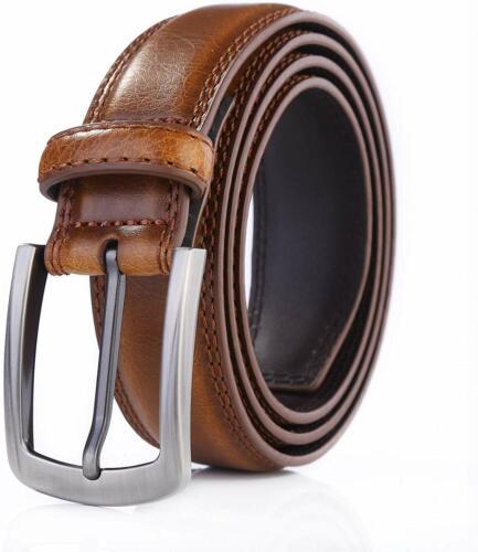 Weifert Men/'s Dress Belt Black Leather Belts for Jeans