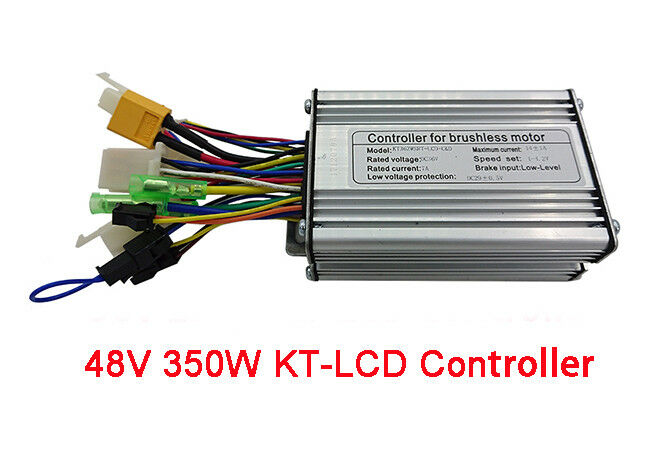 Electric Bike 48V 350W Brushless Controller Dual Hall Sensor KT-LCD Cruise Ebike