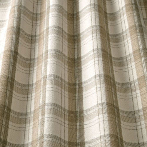 iliv Lana Art Deco Tartan Bark Curtain Fabric Lounge//Dining Room etc
