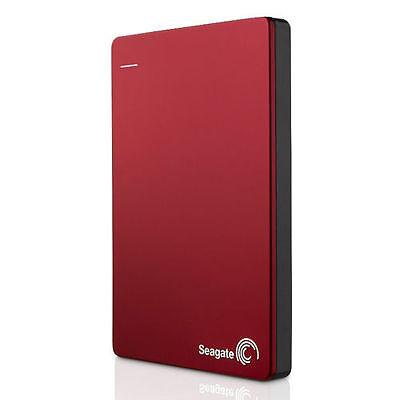 Seagate Backup Plus Slim 160GB USB 3.0 HDD Portable External Hard Drive RED