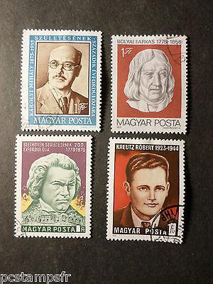 Entwertet Vf Verwendet Taille Und Sehnen StäRken Lot 4 Briefmarken Thema Celebrity Ungarn Hungary