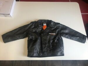 Harley-Davidson-Boys-Eagle-Bar-amp-Shield-Black-Faux-Leather-Biker-Jacket-0366074