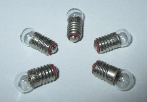 Glühbirne E5.5 3,5V Birnchen für Krippen- Puppenhauslampen 5 Stück  NEU