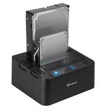 SHARKOON QuickPort DUO f.2 SATA Festplatten 2,5 od.3,5 USB 3.0 Docking Station