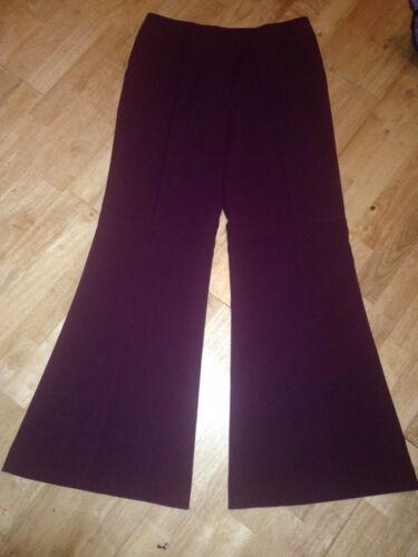 Femmes robe fantaisie années 1970 Années 1980 Années 80 Violet Pantalon Large Flare Taille 8 10 12