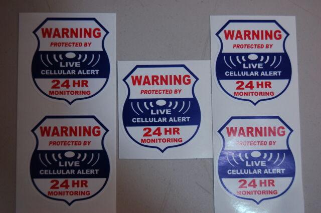 1 cellular alert live   Home  Alarm SECURITY SURVEILLANCE DECAL WINDOW STICKER