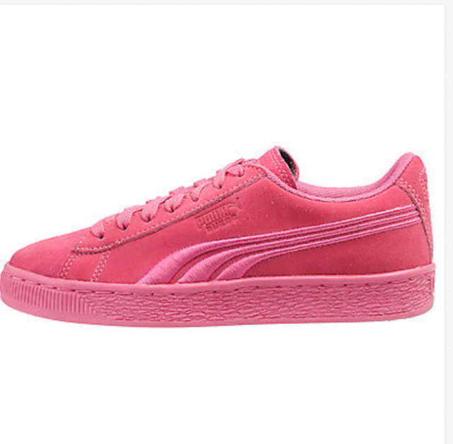 01471a63b36 PUMA Suede Classic Badge Jr Big Kids 362951-05 Shocking Pink Shoes Size 6  for sale online