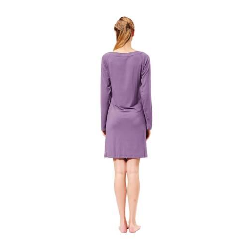 RAIKOU Damen Luftiges Kleid Kleider Dress Nachtwäsche aus angenehmen Bambus 90cm