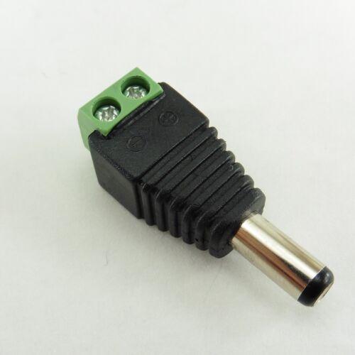 12V DC Power Jack a Terminal Tornillo Adaptador Enchufe de cámara de CCTV