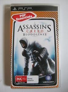 Assassin S Creed Bloodlines Psp Umd Game Gc Manual Ebay