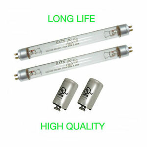 2 UV BULBS AND 2 STARTERS FOR FRESH AIR BY ECOQUEST PURIFIER