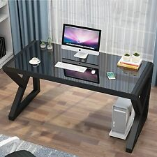 Computer Desk Gaming Table Writing Study Glass Desk Workstation For Home Office