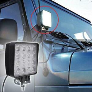 16LED-48W-LED-Luz-de-Trabajo-Barra-Para-Off-Road-Coche-Camion-Tractor-Barco-Spot-Lampara-de
