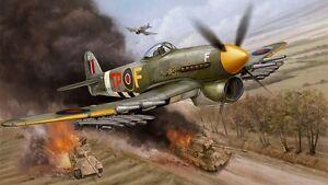 """Appris Hawker Typhoon 97"""" Span Plan Et Pièces Patterns-afficher Le Titre D'origine"""