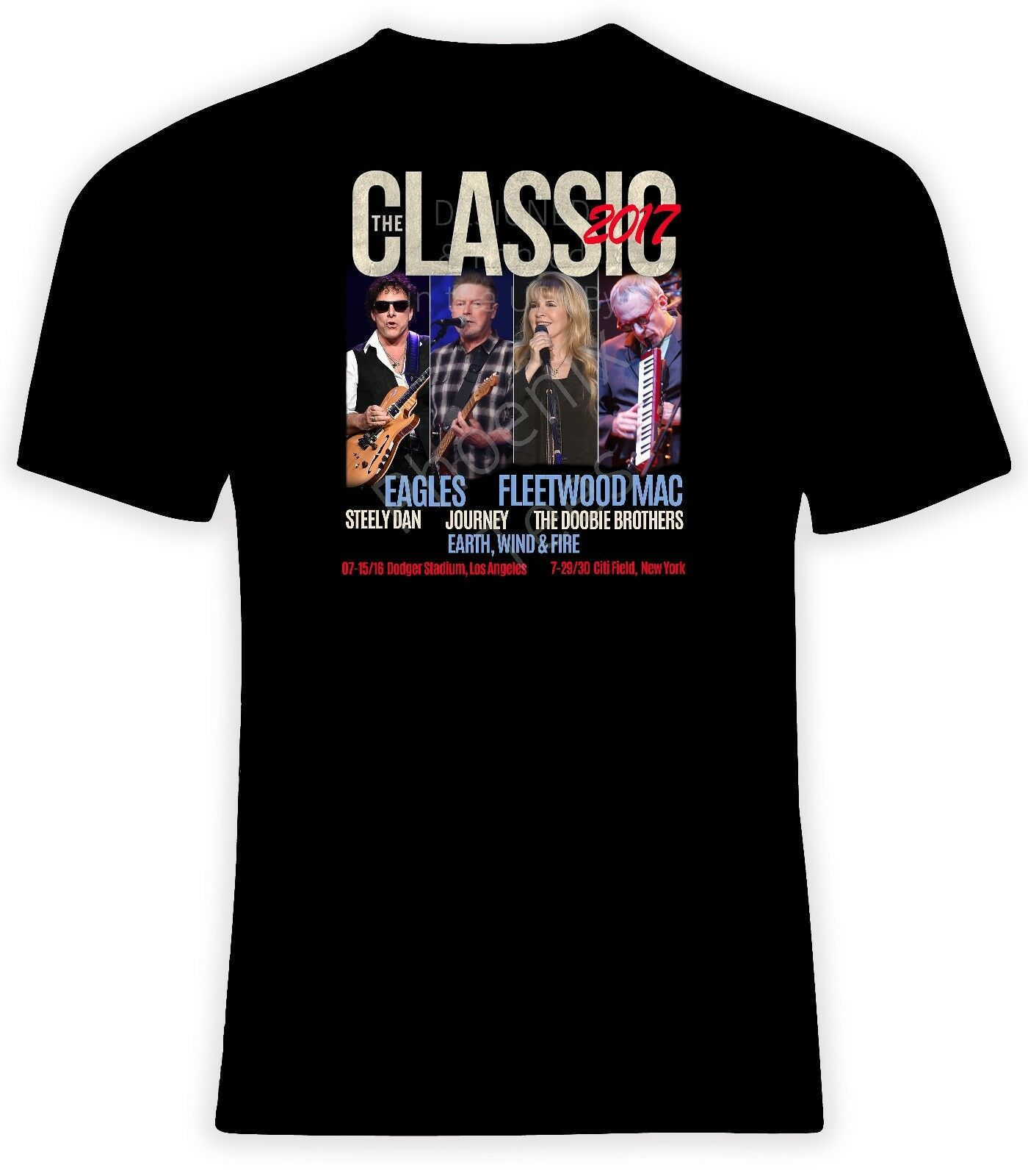 The Classic Concert East and West 2017 T shirt, Eagles, Fleetwood Mac, Journey