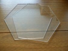 "9 inch Hexagon  Ganaching Plates Acrylic Cake Decorating Discs 9"""