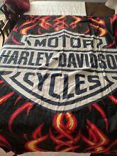 "Harley Davidson Towel Flames Beach Pool Souvenir FULLY LICENSED!! 30/""x60/"""