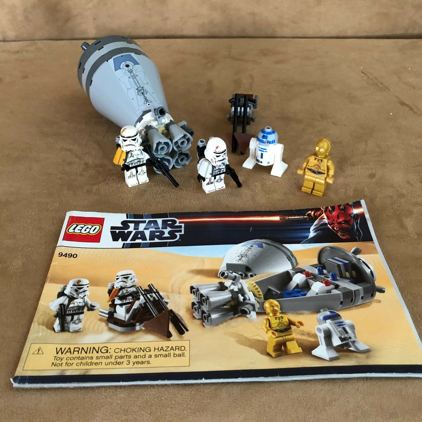 9490 LEGO Complete Star Wars Droid Escape instructions minifigures