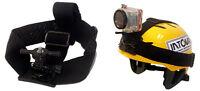 Helmet Camera Mount, Neoprene Straps Universal Mount Tripod Or Gp Style; Intova