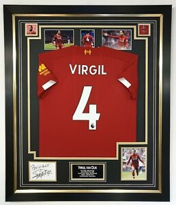 premium selection 2136b a8260 Details about ** NEW Virgil Van Dijk of Liverpool Signed Display Photo With  Shirt Jersey ***