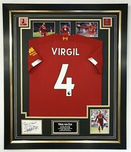 premium selection 16699 afdd7 Details about ** NEW Virgil Van Dijk of Liverpool Signed Display Photo With  Shirt Jersey ***