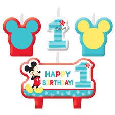 Disney Baby Mickey 1st Mini Candle Set 4pcs Birthday Party