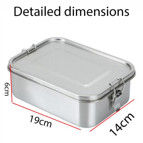 Lunchbox Edelstahl Bento Box Dose mit 3 Fächern langlebig Brotdose Proviantdose
