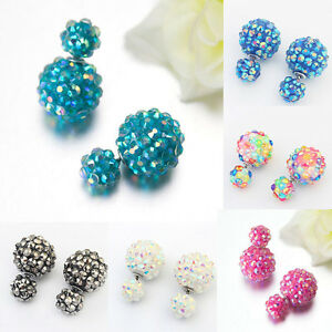 Stylish-Flower-Crystal-Earrings-Double-Side-Stud-Earrings-Big-Beads-Earrings-Z