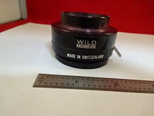 MICROSCOPE PART WILD SWISS M20 CONDENSER DIAPHRAGM IRIS OPTICS AS IS #P6-C-03
