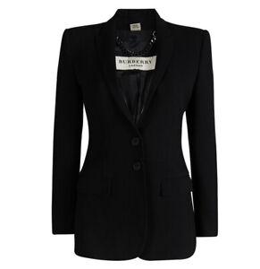 Burberry London Women's Wool Black Tailored Blazer 2 Button Size 18 US NWT $1950