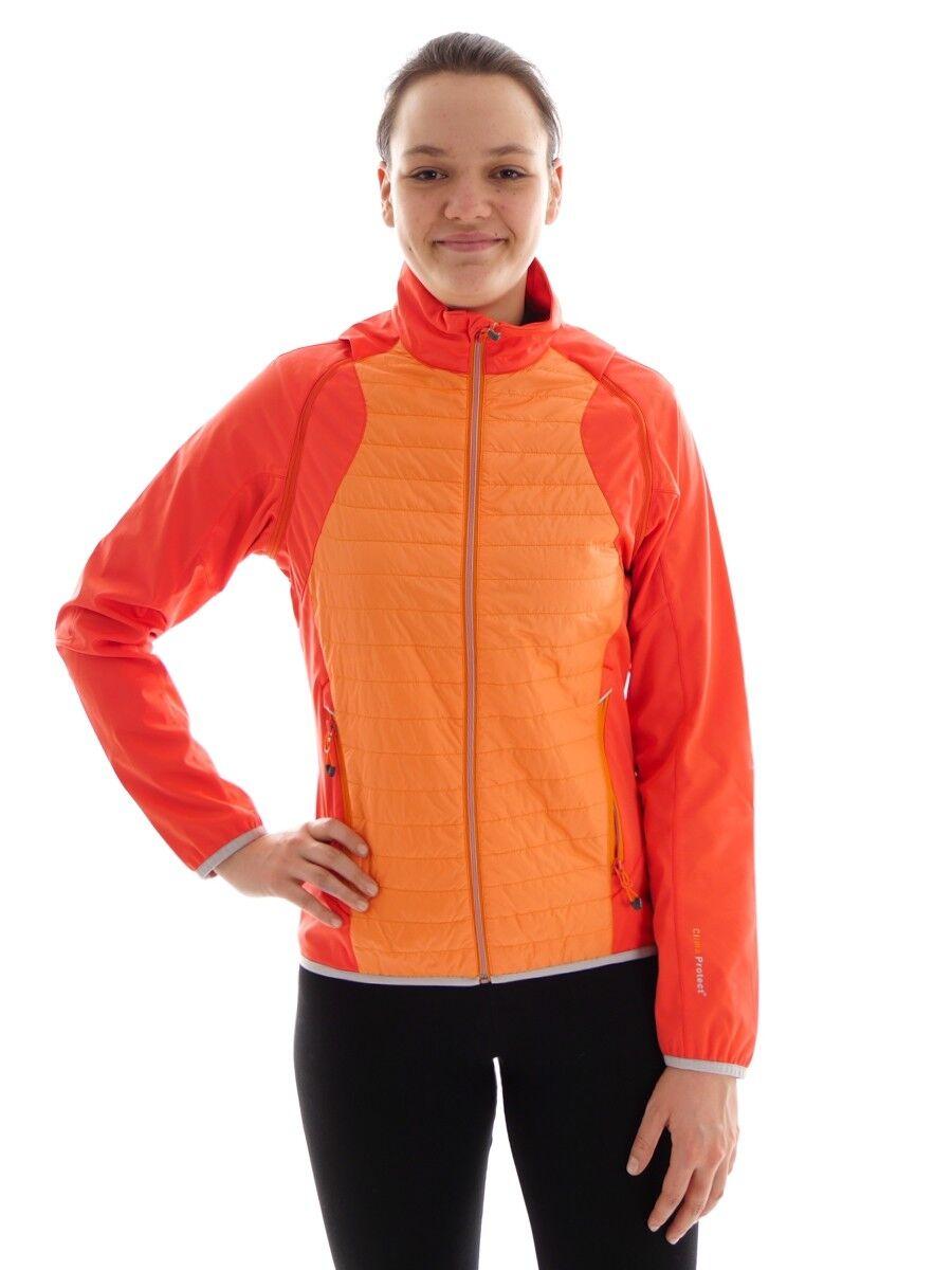 CMP Softshelljacke Übergangsjacke Weste Orange PRIMALOFT® 2in1 Kragen