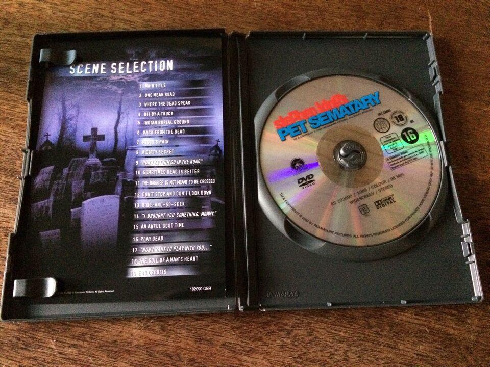 Pet Sematary - Ondskabens Kirkegård, DVD, gyser