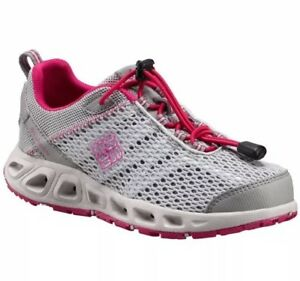 33d46d716c0 Image is loading Columbia-Drainmaker-III-Grey-Pink-Vent-Shoes-Girls-