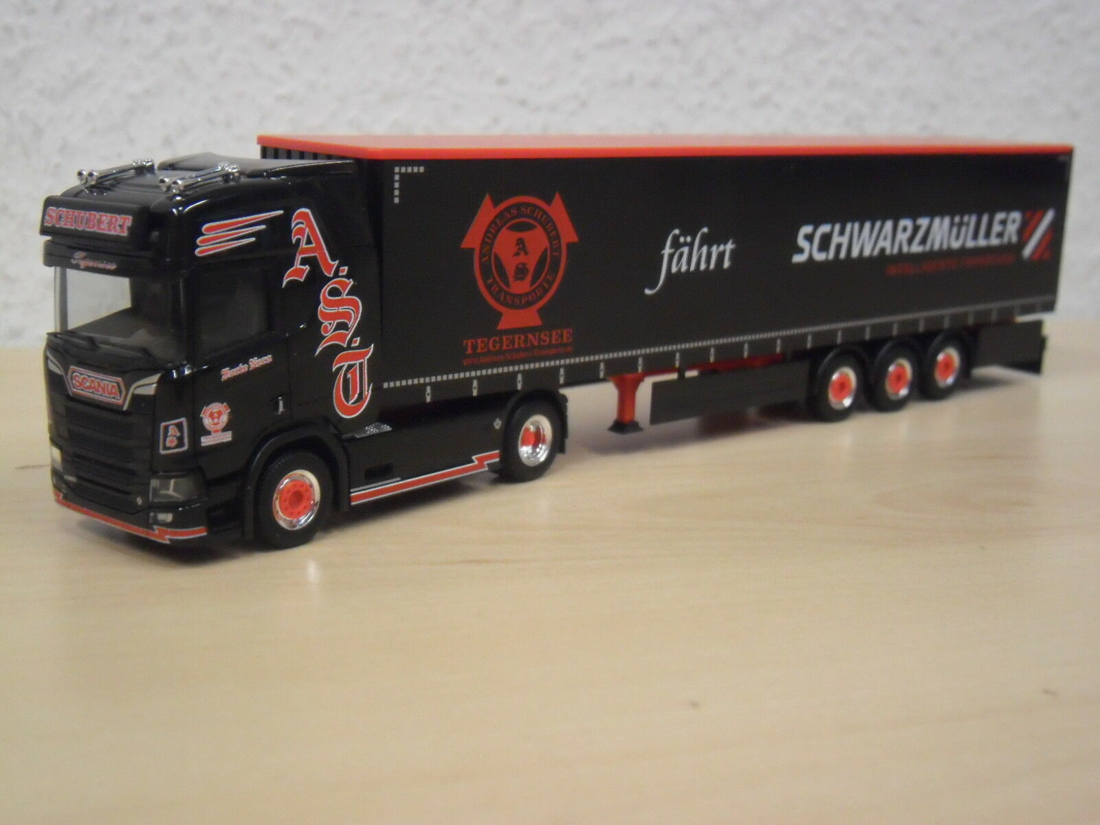 Herpa-Scania CS gaplsz  Schubert Tegernsee-Forte Nero  - 1 933407 - 1 - 87 c24274
