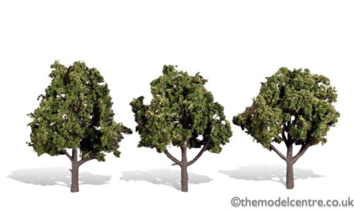 """TR3510 Woodland Scenics Sun Kissed 3 Pack 4/"""" 5/"""" Ready Made Trees TMC"""