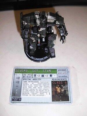 """Mechwarrior Figur  #007 """"Headmaster"""" Atlas + GS-A01 Pilotenkarte unbespielt Neu"""