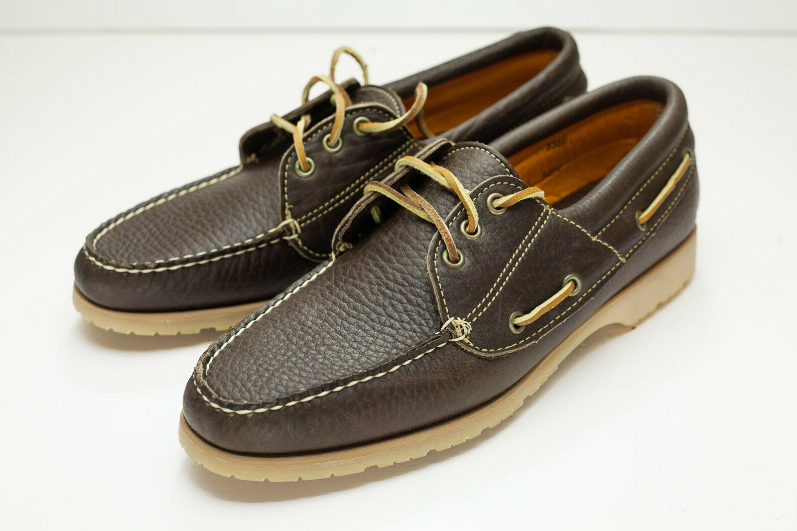 Nomads Wright 10.5 Narrow Brown Boat shoes Mens