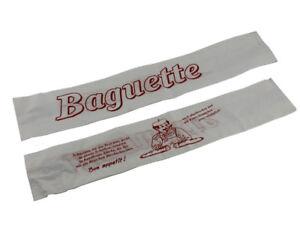 Back- & Verkaufsbleche Gastro & Nahrungsmittelgewerbe 1000 Baguettetüten Weiß Mit Rotem Aufdruck 59 X 11,2 Cm Tüte Beutel 207600