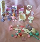 Lot Of Vintage Fisher Price Precious Places Girls Furniture Accessories C