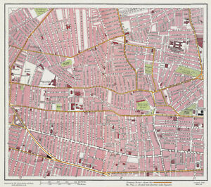 Netherfield Road Liverpool 1928 Series Sheet 8 Large Map